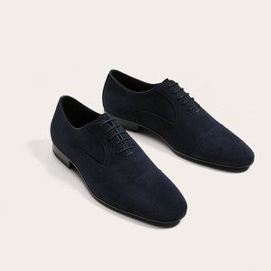 Zara Navy Blue Suede Shoes